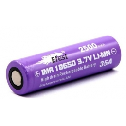 Batterie ACCU 18650 / 2500 Efest V1 purple flat top