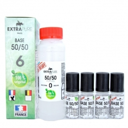 Pack Base 50/50 140ml + booster pour du 6mg Extra DIY